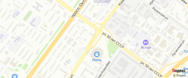 Комсомольская улица на карте Уфы с номерами домов