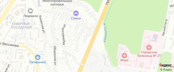 Двинский переулок на карте Уфы с номерами домов