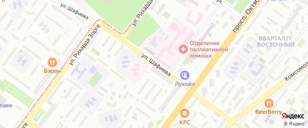 Улица Шафиева на карте Уфы с номерами домов