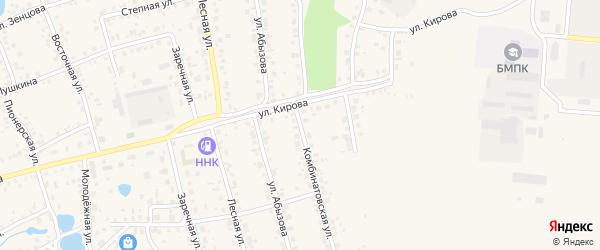 Комбинатовская улица на карте Благовещенска с номерами домов