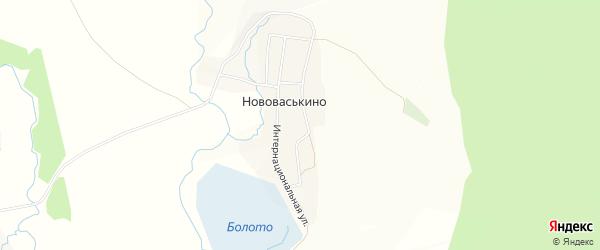 Карта деревни Нововаськино в Башкортостане с улицами и номерами домов
