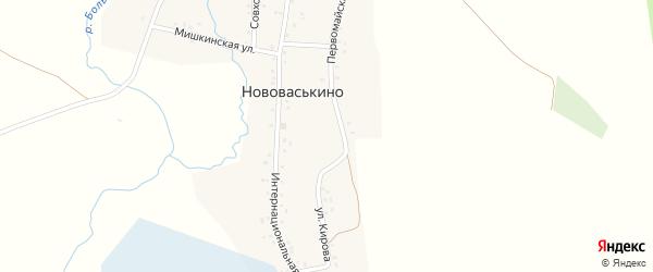 Кузнечная улица на карте деревни Нововаськино с номерами домов