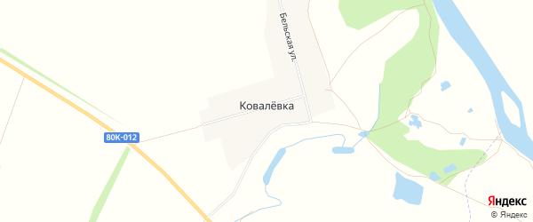 Карта деревни Ковалевки в Башкортостане с улицами и номерами домов