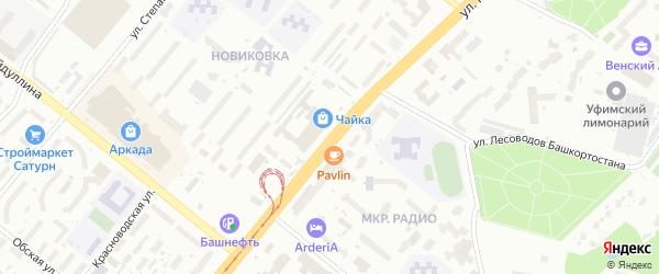 Улица Менделеева на карте Уфы с номерами домов