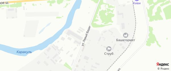 Улица Левый берег на карте Ишимбая с номерами домов