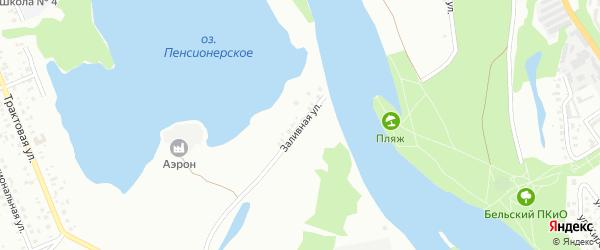 Заливная улица на карте Ишимбая с номерами домов