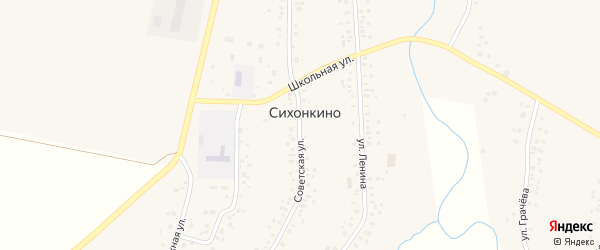 Советская улица на карте села Сихонкино с номерами домов