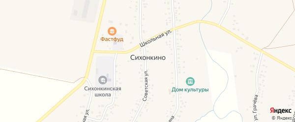 Подгорная улица на карте села Сихонкино с номерами домов