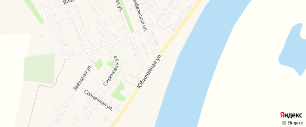Юбилейная улица на карте деревни Алексеевки с номерами домов