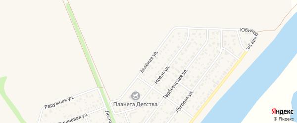 Зеленая улица на карте деревни Алексеевки с номерами домов