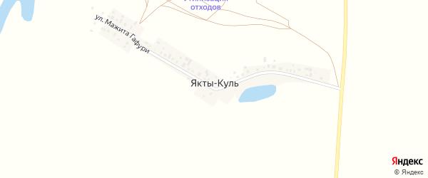 Улица Мажита Гафури на карте деревни Якты-Куль с номерами домов