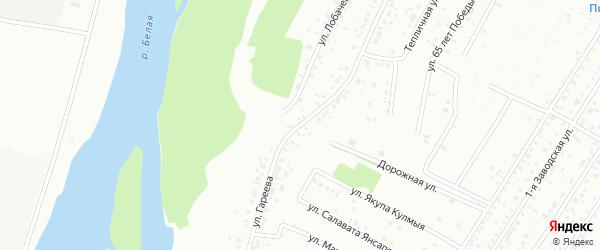 Улица Гареева на карте Ишимбая с номерами домов