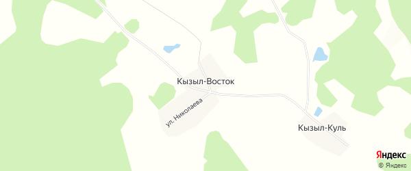 Карта деревни Кызыла Востока в Башкортостане с улицами и номерами домов