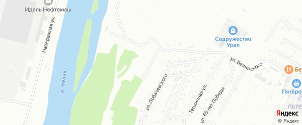 Прибельская улица на карте Ишимбая с номерами домов