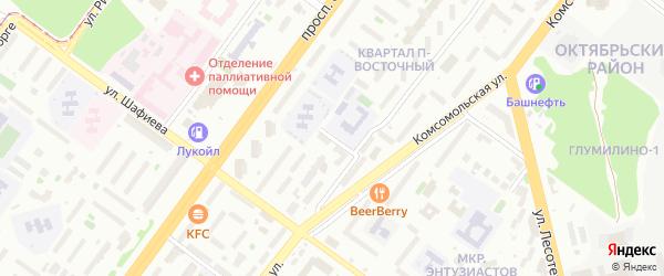Орловская улица на карте Уфы с номерами домов