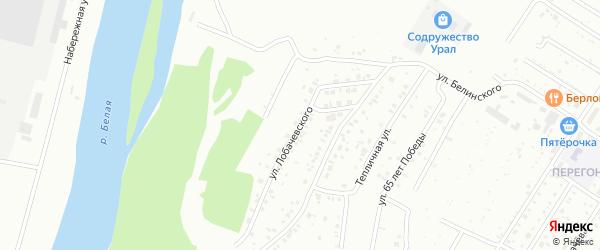 Улица Лобачевского на карте Ишимбая с номерами домов