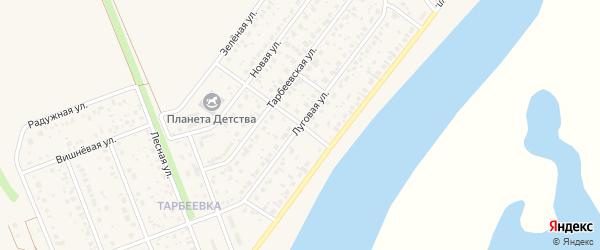 Луговая улица на карте деревни Алексеевки с номерами домов