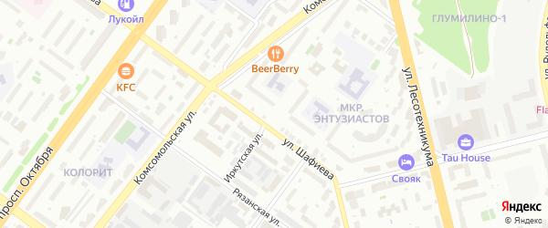 Иркутская улица на карте Уфы с номерами домов