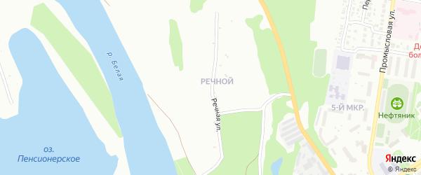 Речная улица на карте деревни Исякаево с номерами домов