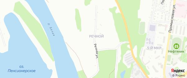 Речная улица на карте Ишимбая с номерами домов