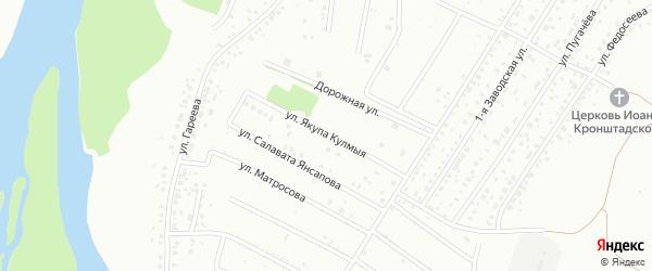 Улица Я.Кулмыя на карте Ишимбая с номерами домов