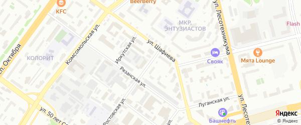 Ростовская улица на карте Уфы с номерами домов