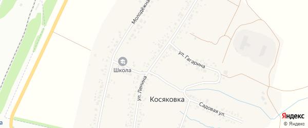 Улица Ленина на карте села Косяковки с номерами домов