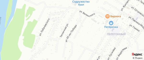 Улица 65 лет Победы на карте Ишимбая с номерами домов