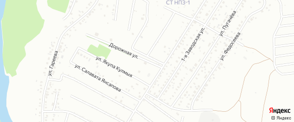 Дорожная улица на карте Ишимбая с номерами домов