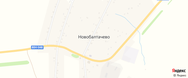 Северный переулок на карте деревни Новобалтачево с номерами домов