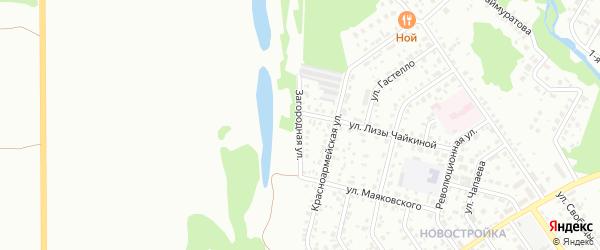 Загородная улица на карте Ишимбая с номерами домов