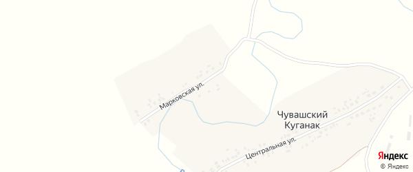 Лесная улица на карте деревни Марковского с номерами домов
