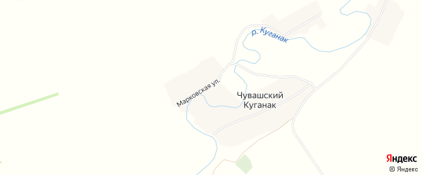Карта деревни Марковского в Башкортостане с улицами и номерами домов