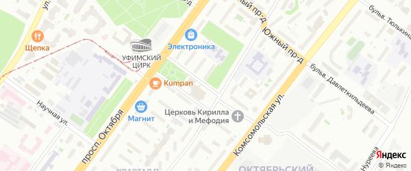 Бульвар Саид-Галиева на карте Уфы с номерами домов