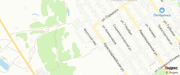 Флотский переулок на карте Ишимбая с номерами домов