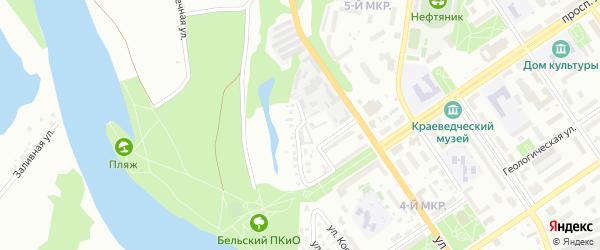 Подгорная улица на карте Ишимбая с номерами домов