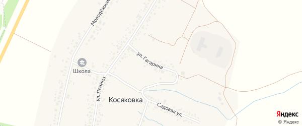 Улица Гагарина на карте села Косяковки с номерами домов