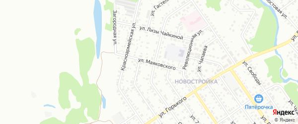 Улица Маяковского на карте Ишимбая с номерами домов