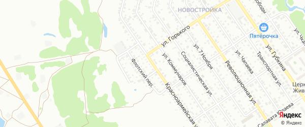 Красноармейская улица на карте Ишимбая с номерами домов