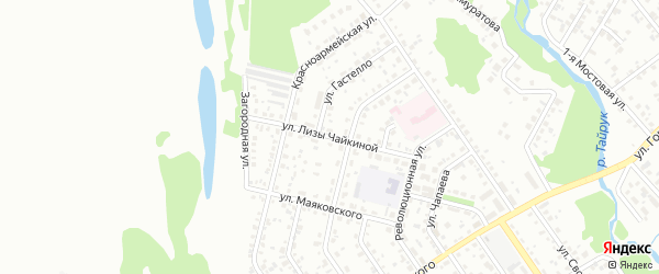 Улица Чайкиной на карте Ишимбая с номерами домов