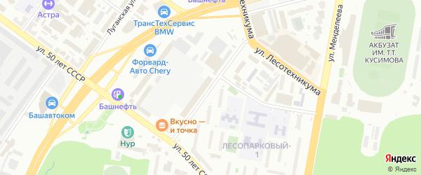Улица Клавдии Абрамовой на карте Уфы с номерами домов