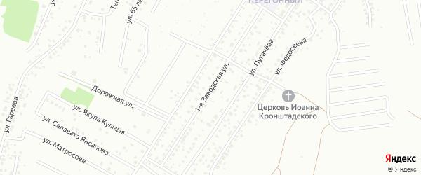 Заводская улица на карте Ишимбая с номерами домов
