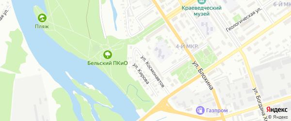 Улица Космонавтов на карте Ишимбая с номерами домов