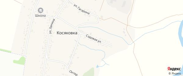 Садовая улица на карте села Косяковки с номерами домов