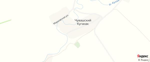 Карта деревни Чувашского Куганака в Башкортостане с улицами и номерами домов