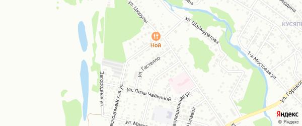 Улица Гастелло на карте Ишимбая с номерами домов