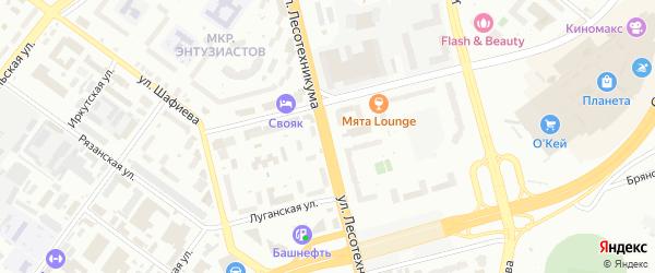 Улица Лесотехникума на карте Уфы с номерами домов