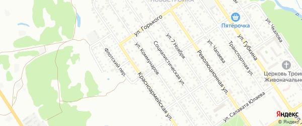 Улица Коммунаров на карте Ишимбая с номерами домов