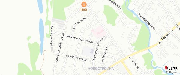 Улица Матросова на карте Ишимбая с номерами домов