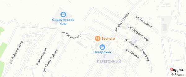 Улица Белинского на карте Ишимбая с номерами домов